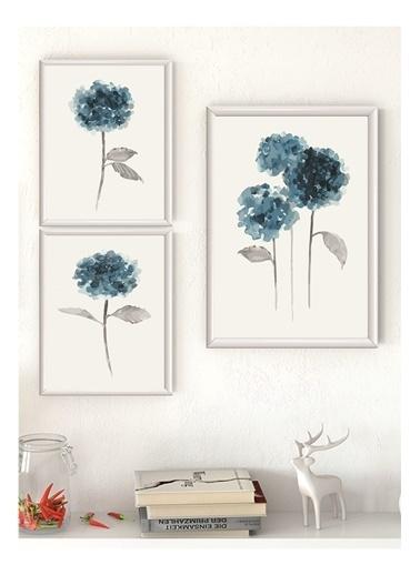 Lyn Home & Decor Mint Çerçeveli Poster 3 Lü Tablo 1 Adet 23,5X33,5 2 Adet 17,5X23,5 Beyaz